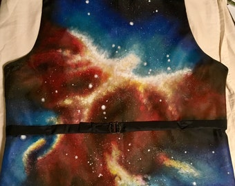 Custom Painted Galaxy Formal Vest - Mens; multiple sizes available