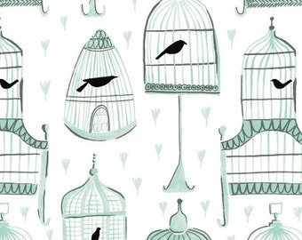 1 /2 Yard Dear Stella Perch Birdcages  696