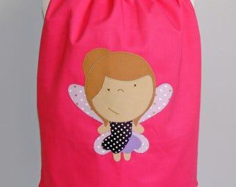 Reversible elastic towel Tite fairy - pink