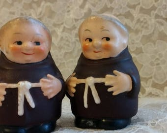 Pair of Friar Salt and Pepper Shackers