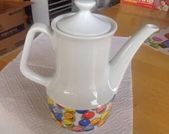 Vintage Carnival Pop Art Tea Pot 1970's