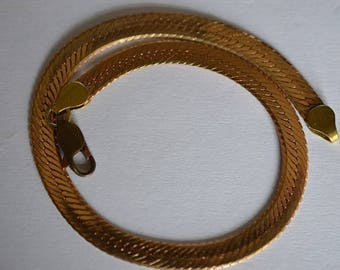 3.3mm Copper Herringbone Chain Bracelet (1025033)