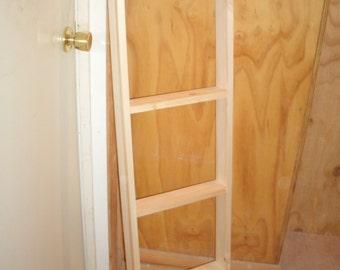 "47 1/2"" X 2 1/2' DEEP blanket ladder-ladder-wooden ladder-quilt ladder-wood ladder- unfinished blanket ladder-display ladder"