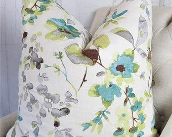 24x24 Pillow Covers, 22x22, 18x18, 16x16, 20x20, 26x26, Lumbar, Designer Pillows, Teal, Accent Throw Covers, Decorative Pillows, Pillows