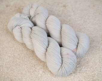 Hand dyed natural Baby Alpaca and Merino yarn - 4ply - 100 grams - 225m/246 yards - Pearl