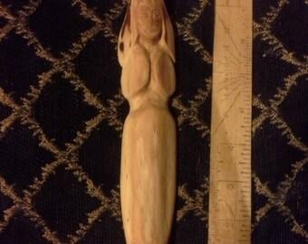 Elen Horned Goddess statue/wand