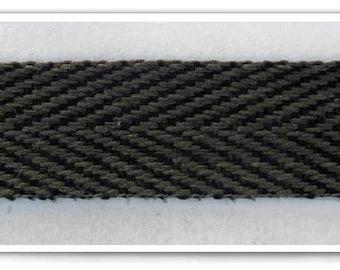 Black Polyester Twill Tape Drawstring Cord Flat Trims Half Inch Twill Tape By the Yard 0149