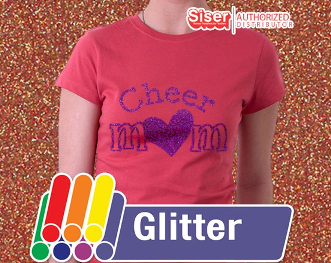 """20"""" X 1 yard  / Glitter Easyweed HTV / Combine for Shipping Discount - Heat Transfer Vinyl - HTV"""