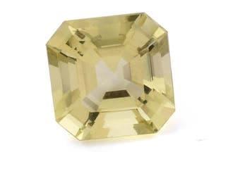 Green Gold Quartz Loose Gemstone Octagon Cut 1A Quality 10mm TGW 3.25 cts.