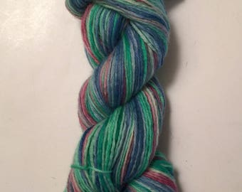 Hand Dyed Yarn SW worsted weight 100% superwash merino wool   100 grams   Off the Coast Free shipping in the US