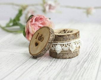 Wedding ring holder, ring bearer box, rustic ring box, wooden ring box, ring box wedding, rustic wedding, I do wedding decor, boho weddings