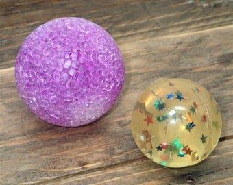 Rubber Balls VTG, Rubber Ball, Unique Rubber Ball, Toy Ball, Confetti Rubber Ball, Bouncy Ball, Bouncing Ball, Solid Rubber Ball, Mesh Ball