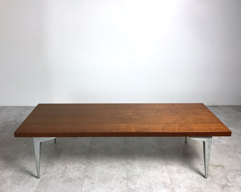 Rare vintage lane prophecy walnut aluminum coffee table mid rare vintage lane prophecy walnut aluminum coffee table mid century modern 1960s geotapseo Gallery