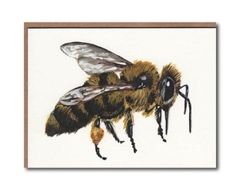 Honey Bee Notecards - Bee #3 Cards - Bee Stationary