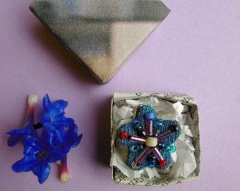 Lithadora, lavender filled brooch.