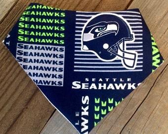 Seattle Seahawks bandana bib, Seahawks baby bib
