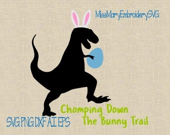 SVG Bunny T-Rex File Cutting File DXF, AI Commercial Personal Use