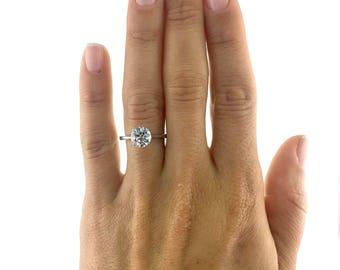 Engagement Ring 1.95 Carat Diamond Engagement Ring Round 14K White Gold  #J22595 FREE SHIPPING