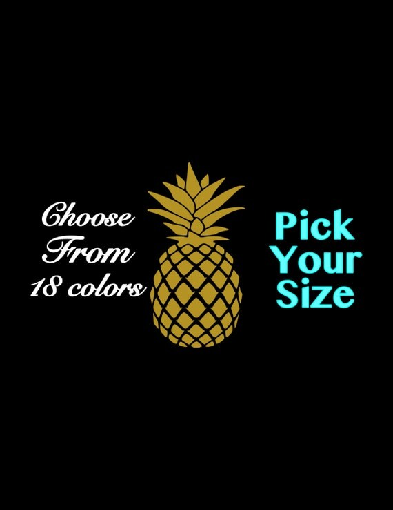 Pineapple Decal Vinyl Sticker Pineapple Car Decal Laptop Phone