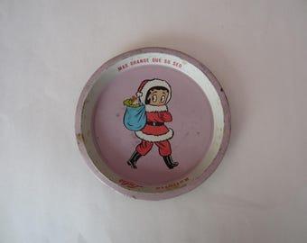 Vintage Mexican Santa Claus Lulu Tin Tray, Vintage Mexican Lulu Tray, Lulu, Mexican Lulu Tray, Mexican Cartoon Tray, Lulu Cartoon Tray