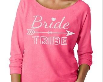 BRIDE TRIBE Bachelorette Wideneck Fleece