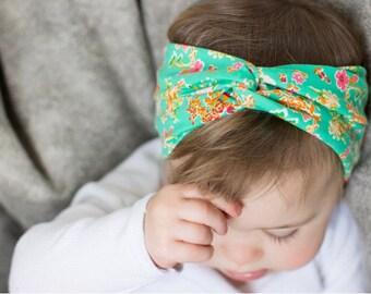 Awesome Azaleas :  baby turban headband - baby headwrap - newborn gift - soft infant headband - turbans for tots
