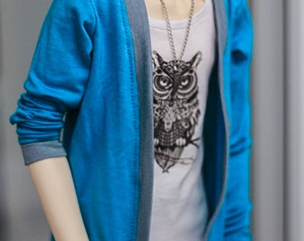 Cardigan Blue+Gray SD13 Boys Girls
