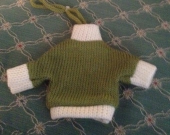 Cool Green Doll or Bear Sweater