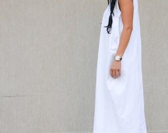Maxi Dress, oversize dress, white Dress, Loose Dress, Long Dress, Floor Length Dress, Short Sleeves Dress, Casual Dress, Beach Dress