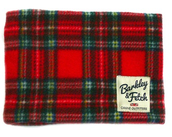 Royal Stewart Tartan Fleece Dog Neck warmer / snood