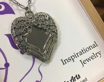 Angel Wing Mirror Necklace