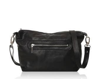 Leather Crossbody Bag - Black shoulder bag