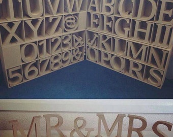 Mr and Mrs Wooden Letters Wedding Table