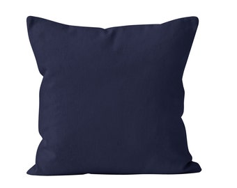 Navy Pillow Cover, Navy Blue Pillow Covers, Navy Pillows Covers, Solid Nautical Pillow Cover, Navy Cushion Cover, Pillows Navy Blue 18x18