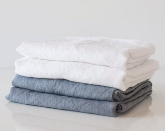 linen pillowcases with envelope closure,  one pair, standard size