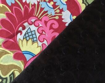 Baby Blanket   Designer cotton & luxurious minky