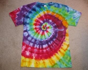 Rainbow shirt, tie dye shirt, hippie clothing, festival clothing