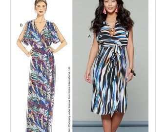 McCall's Sewing Pattern M7567 Misses' Wrap-Style Dresses and Belt
