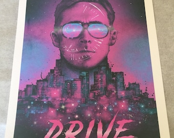 Drive movie poster pink & blue large print