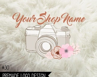30. Premade Business Logo Boutique Digital File 300dpi PNG file, personalized with your shop name