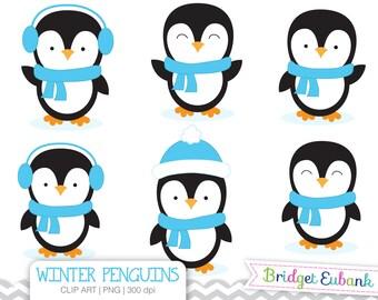Penguin Clip Art, Boy Penguins Clip Art, Penguin Clipart, Blue Penguins, Commercial Use, INSTANT DOWNLOAD