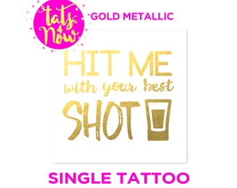 21st birthday gift for her, funny 21st birthday gift, finally 21, gold temporary tattoo, tats4now