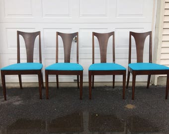 Broyhill walnut dining chair set of 4 RESTORED