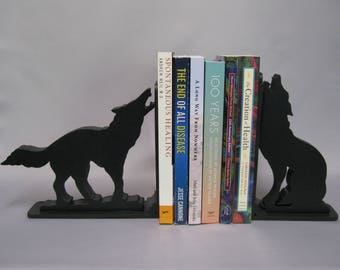 Wolf Pair Silhouette Bookends - 37.95 Two Piece Set