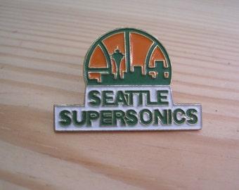 Vintage Seattle Super Sonics 1989 NBA Lapel/ Hat Pin