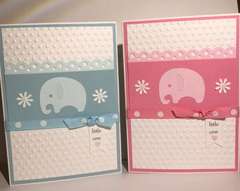 Baby elephant in Blue or Pink