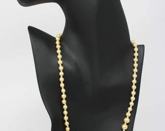 Pearlish Yellow Necklace and Earring Set