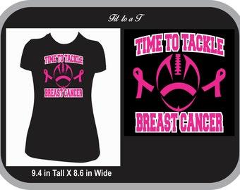 Breast Cancer Awareness Football  T-Shirt