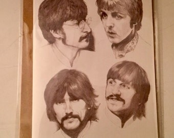 The Beatles greeting card. Perfect for the Beatles fan. Ideal for Birthdays or any occasion.