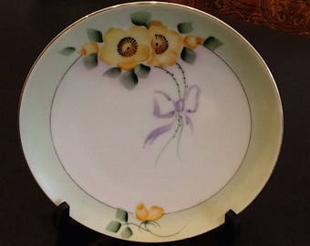 Antique 4 Meito China Plates <> Set of FOUR <> Made in Japan <> Hand Painted <> Jonroth Studios <> 1910's <> EXCELLENT CONDITION